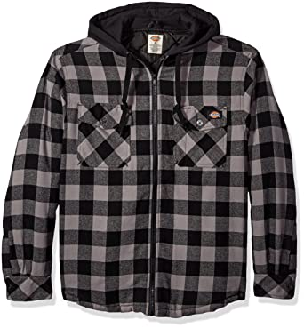 Amazon.com: Dickies Men's Quilted Flannel with Fleece Hood: Clothing : quilted flannel jacket with hood - Adamdwight.com