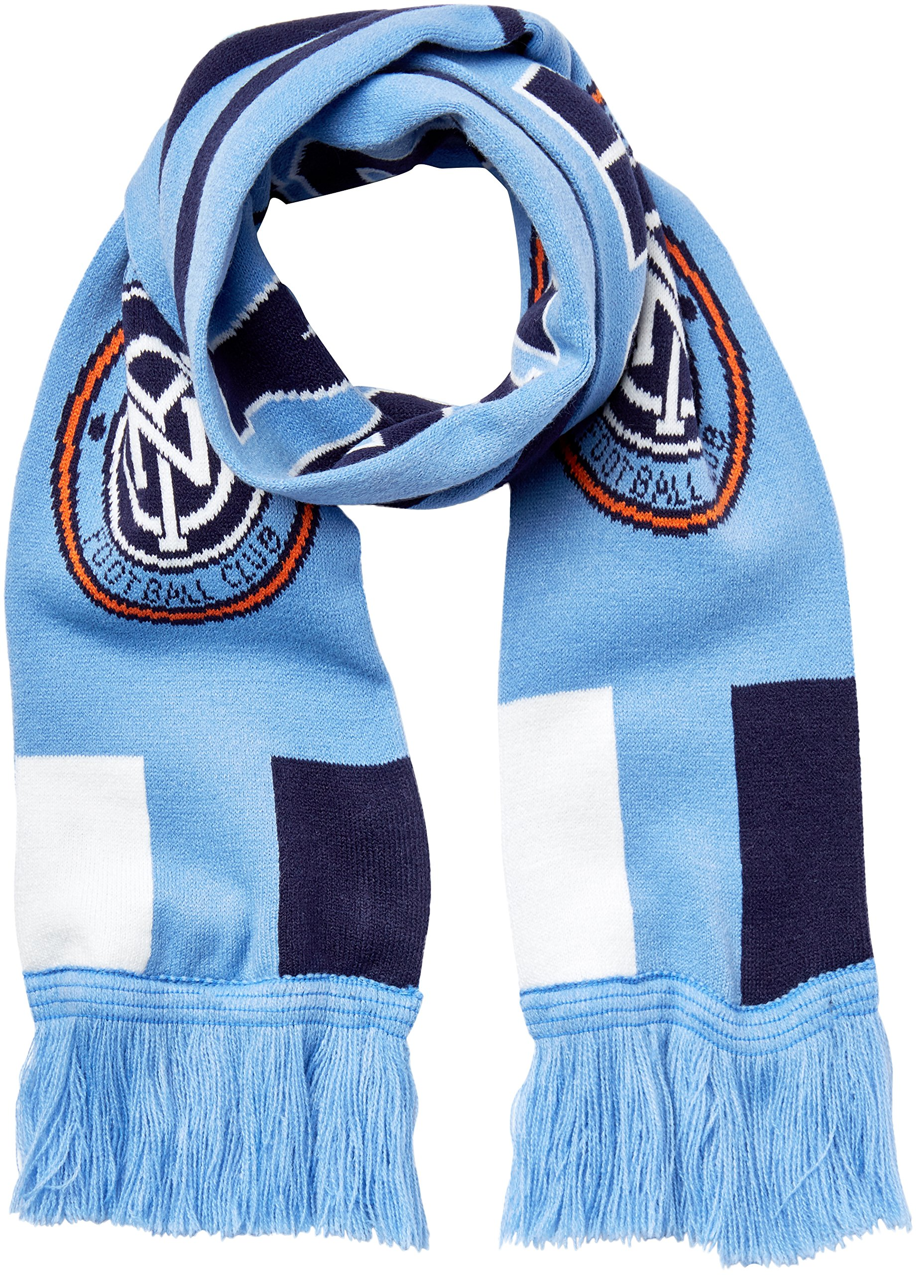 Outerstuff MLS NYCFC R S8FDV Youth Boys Fringe Scarf, One Size (8), Bahia Blue