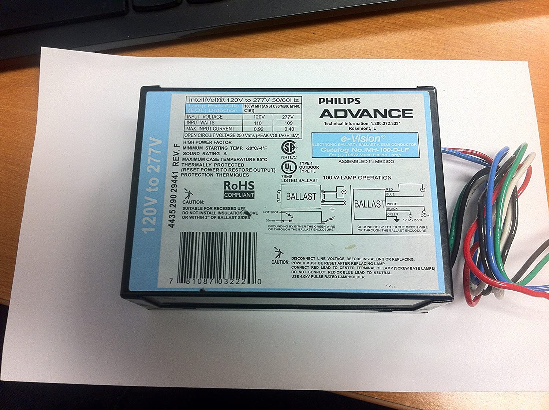 PHILIPS ADVANCE IMH-100-D-LF E-VISION ELECTRONIC BALLAST - - Amazon.com