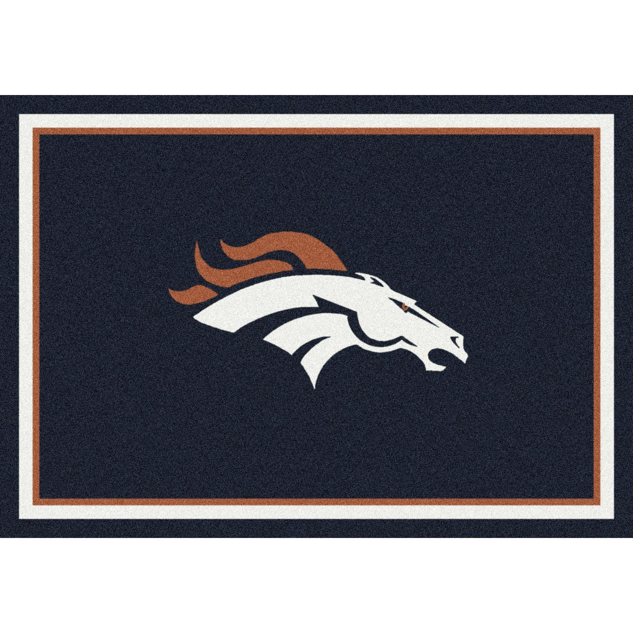 Denver Broncos NFL Team Spirit Area Rug by Milliken, 7'8'' x 10'9'', Multicolored