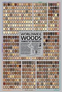 Wood identifying and using hundreds of woods worldwide by eric worldwide woods ranked by hardness 24 x 36 poster urtaz Choice Image