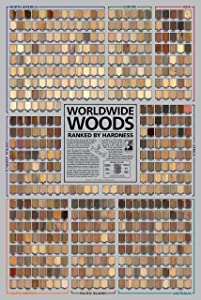 Worldwide Woods, Ranked by Hardness 24 x 36 Poster