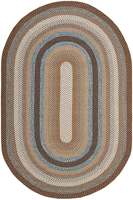 Amazon Com Safavieh Braided Collection Brd313a Hand Woven Brown And