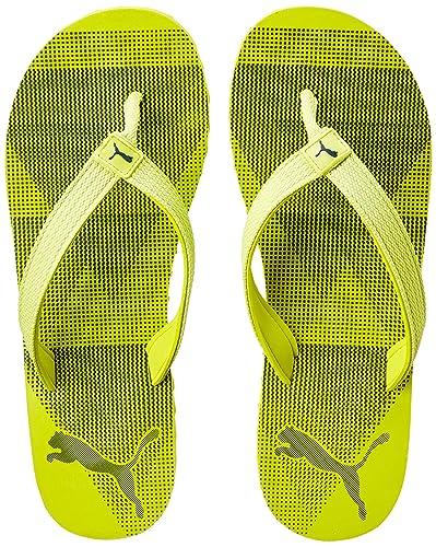 78982265b7fbf4 Puma Unisex Insta IDP Nrgy Yellow-Blue Depths Flip Flops Thong Sandals - 7  UK