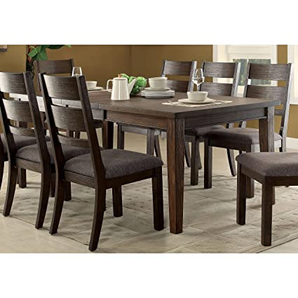 Furniture Of America Rayshin Rustic Espresso Expandable Dining Table