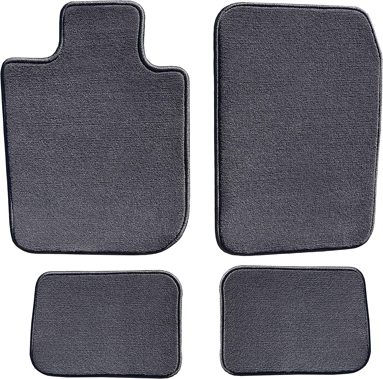 1 Pack GG Bailey D60534-S1B-CC-CHAR Two Row Custom-Fit Car Mat Set Charcoal Couture