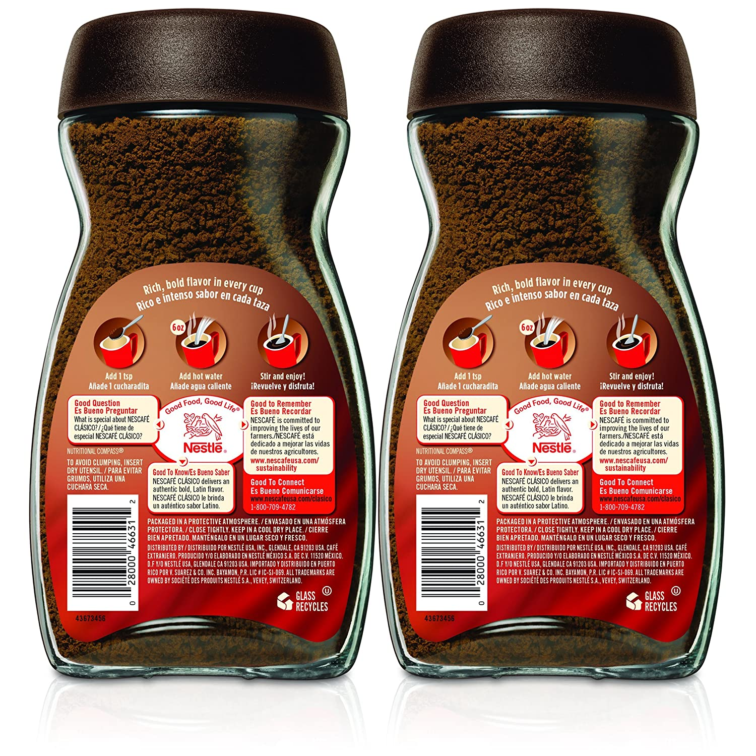 Amazon.com : Nescafe Clasico Instant Coffee, 7 Ounce (Pack of 2) : Grocery & Gourmet Food