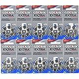 60 Rayovac Extra Mercury Free Hearing Aid Batteries Size: 675