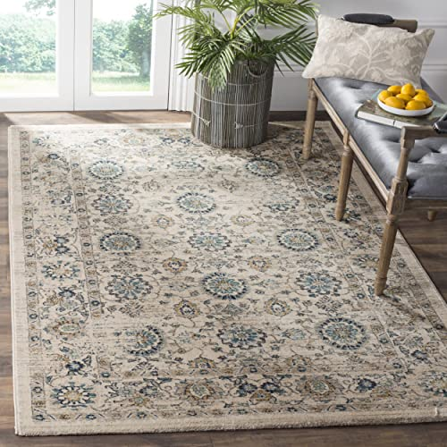 Safavieh Evoke Collection EVK515F Vintage Beige and Turquoise Area Rug 3 x 5