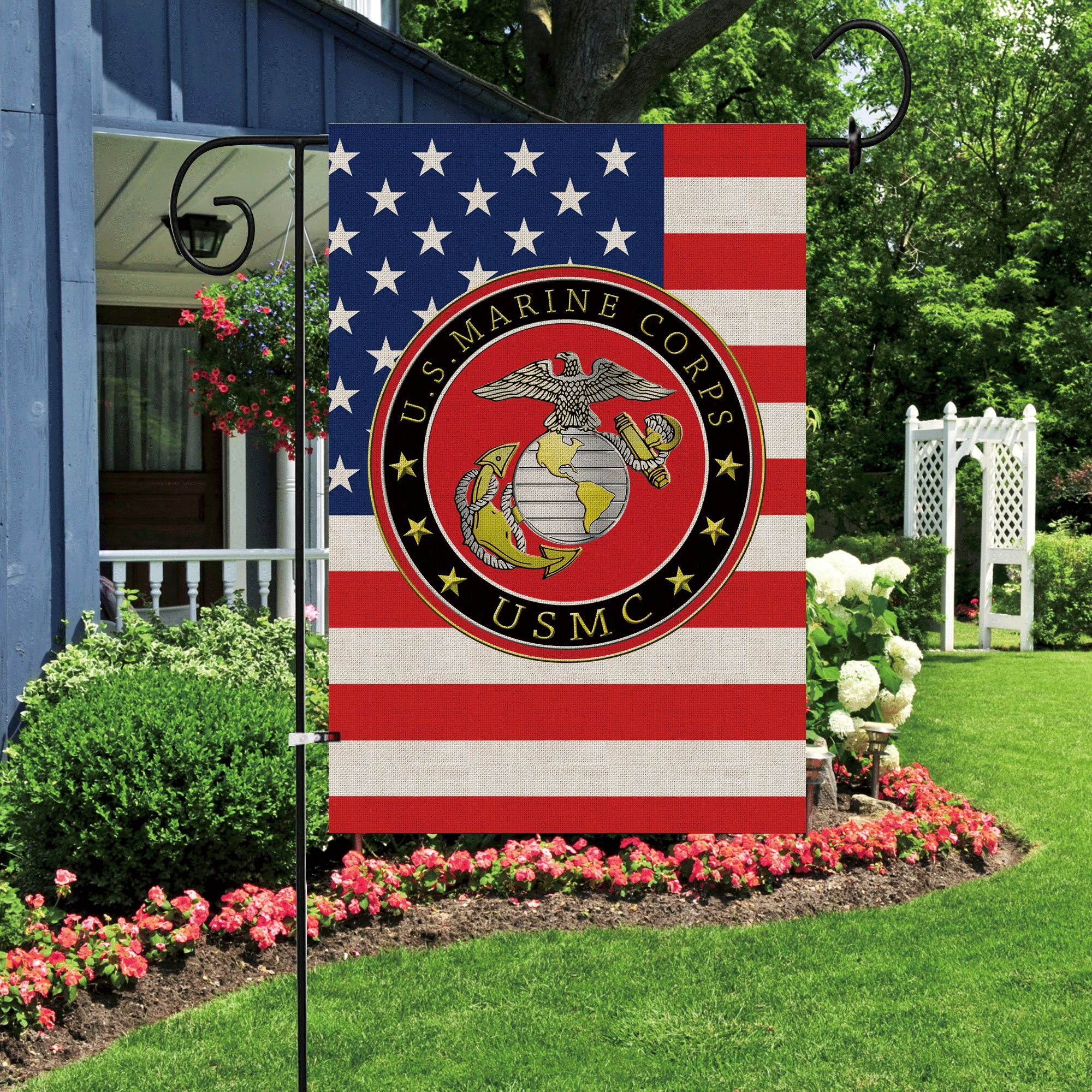 Bonsai Tree marine corps usmc seasonal burlap garden flag Banner decorative outdoor Double Sided yard flag 12 x 18 prime by Bonsai Tree (Image #5)