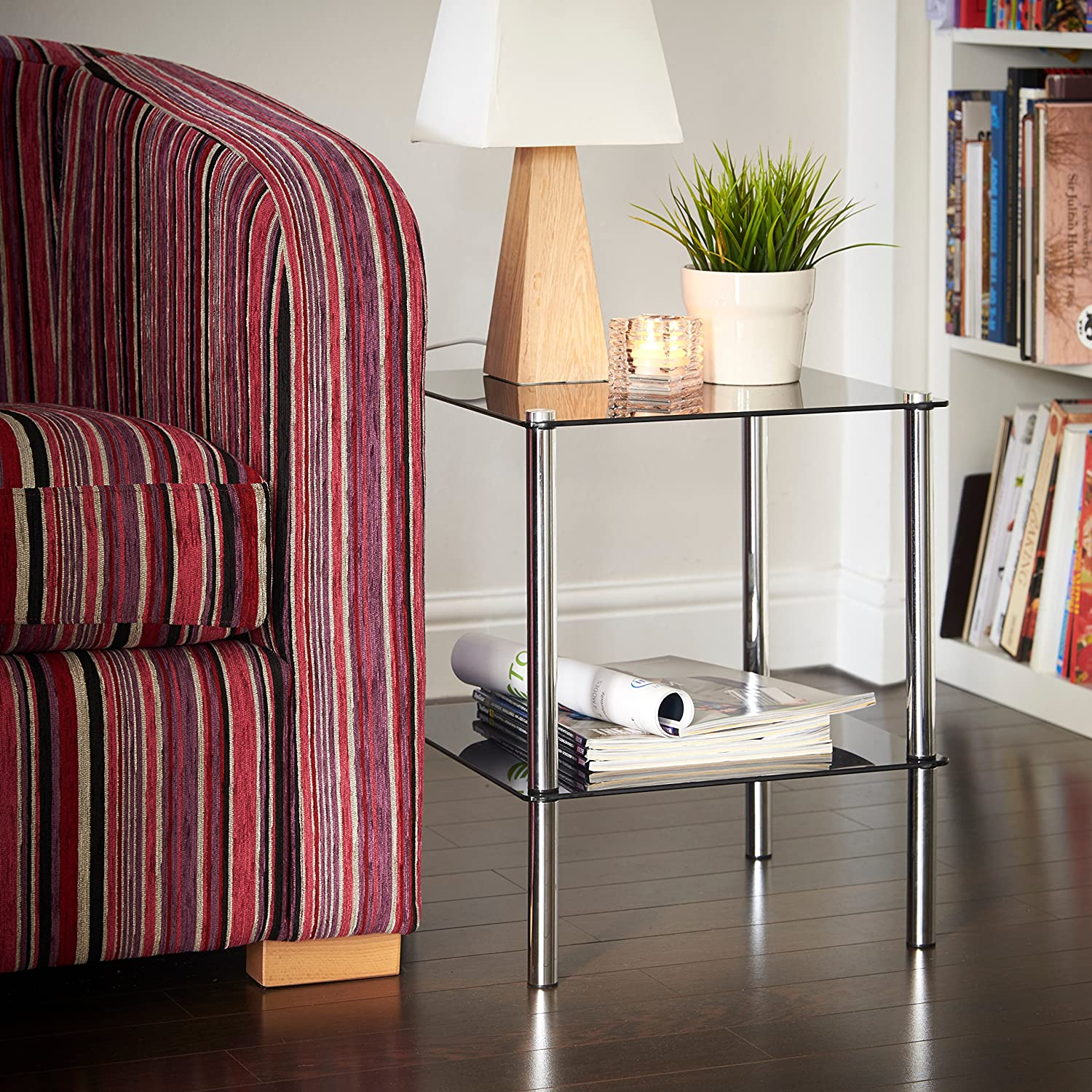 vonhaus end table coffee table or side table for living rooms