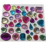 143 Pièces différentes pailletée et strass sticker autocollant coloré bricolage gltzersteine mélange de pierres strass en forme de coeur environ carré gouttes pour décorer des cRYSTAL kING