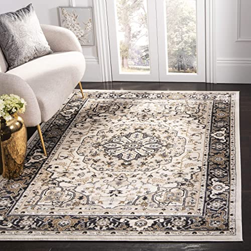 Safavieh Lyndhurst Collection LNH334K Traditional Oriental Medallion Cream and Navy Area Rug 4 x 6