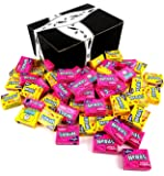 Wonka Fun Size Nerds 2-Flavor Variety: One 2 lb Bag of Assorted Lemonade Wild Cherry & Seriously Strawberry in a BlackTie Box