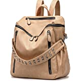 ROULENS Women PU Leather Backpack Purse Convertible Ladies Fashion Casual Travel Large School Shoulder Bags