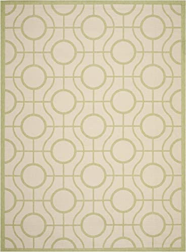 Safavieh Courtyard Collection CY6115-218 Beige and Sweet Pea Indoor Outdoor Area Rug 8 x 11