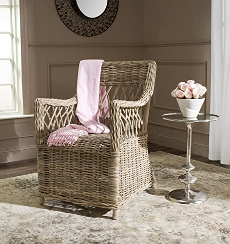 Safavieh Home Collection Hinaku Soft Grey Arm Chair