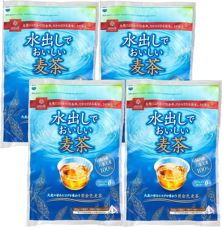 はくばく 水出しでおいしい麦茶 360g×4袋