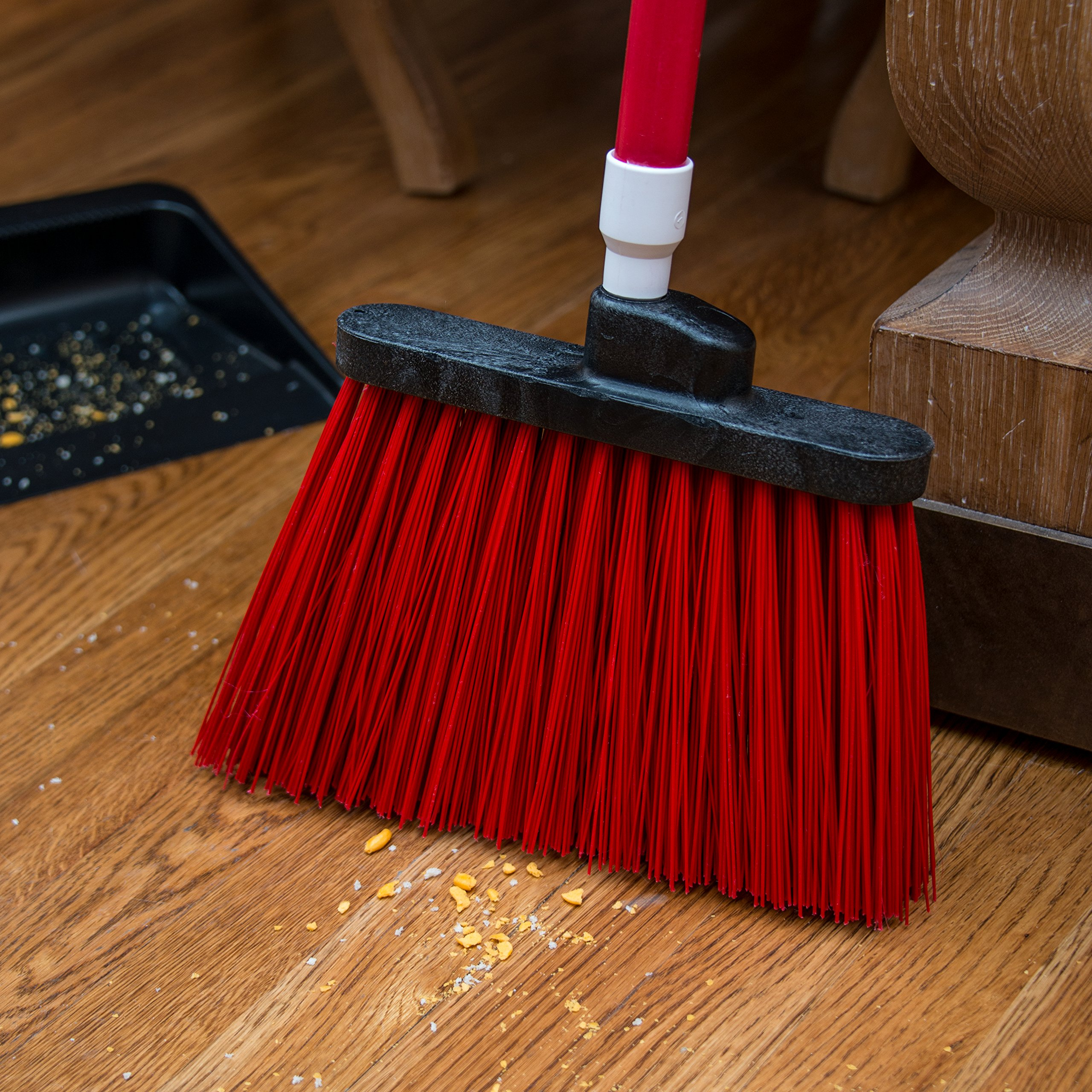 Carlisle 4108305 Sparta Duo-Sweep Unflagged Angle Broom with Fiberglass Handle, 54'' Length, Red (Pack of 12) by Carlisle (Image #6)