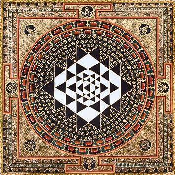Exotic India Vajrayogini Mandala - Tibetan Buddhist Thangka Without
