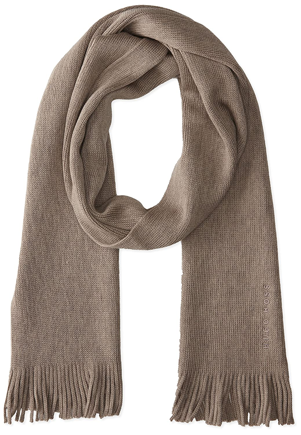 BOSS Hugo Boss Men's Albas Scarf, Taupe, One Size 50138618