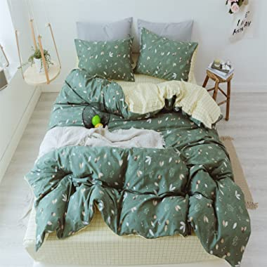 TheFit Paisley Bedding for Young Adult W1167 Natural Nut Duvet Cover Set 100% Cotton, Twin Queen King Set, 3-4 Pieces (King)