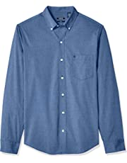 41c39ba9 IZOD Men's Big and Tall Button Down Long Sleeve Stretch Performance Solid  Shirt