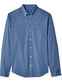 27b8ba635 IZOD Men's CLEARANCE Big and Tall Button Down Long Sleeve Stretch  Performance Solid Shirt