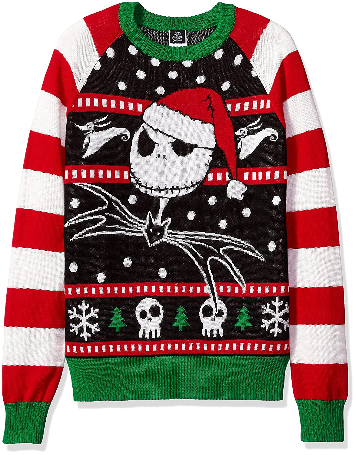 Disney Men\'s Jack The Jolly Pumpkin King Ugly Christmas Sweater at ...