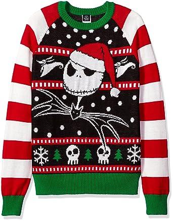Disney Mens Jack The Jolly Pumpkin King Ugly Christmas Sweater Long