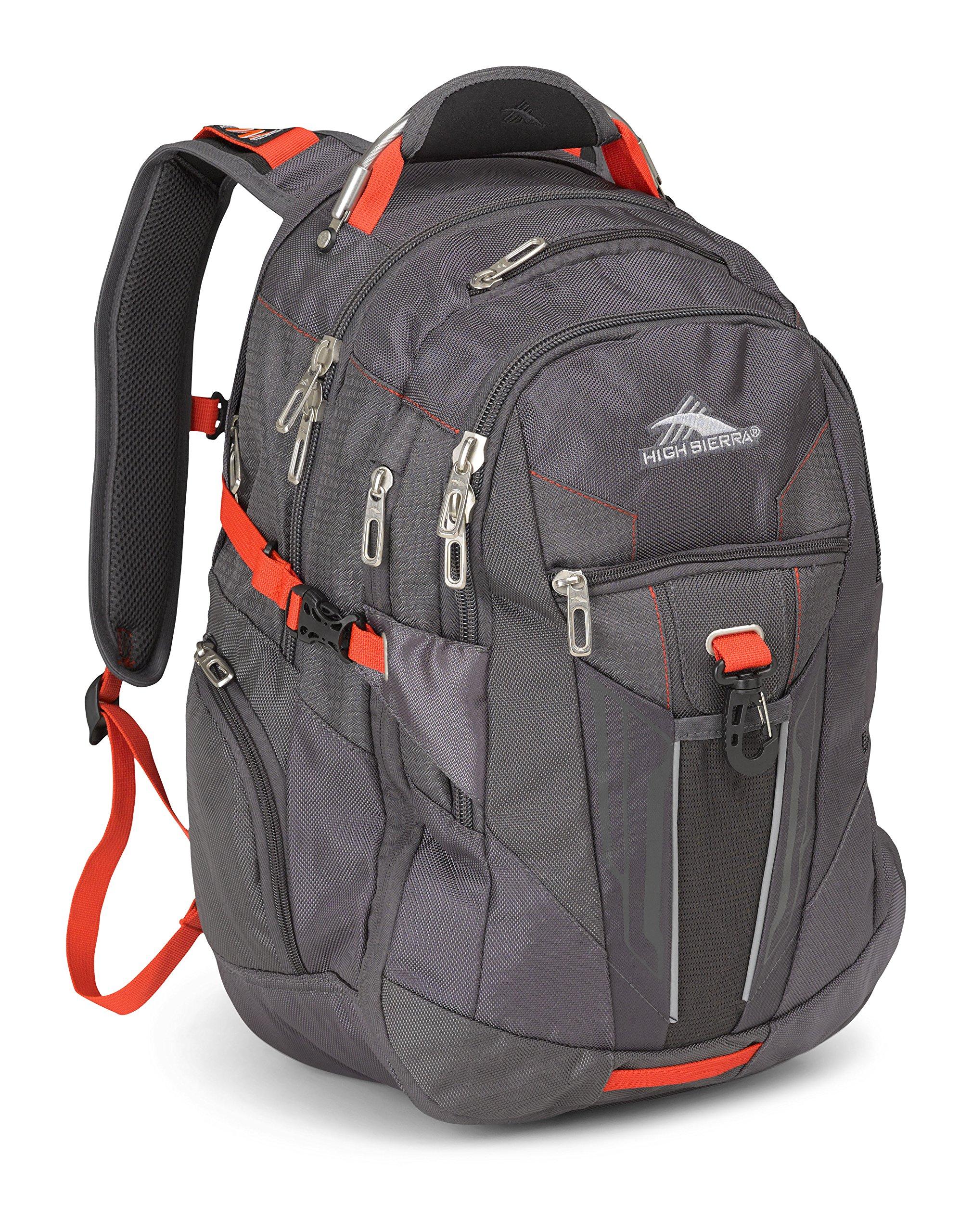High Sierra XBT Laptop Business Backpack, Mercury/Crimson
