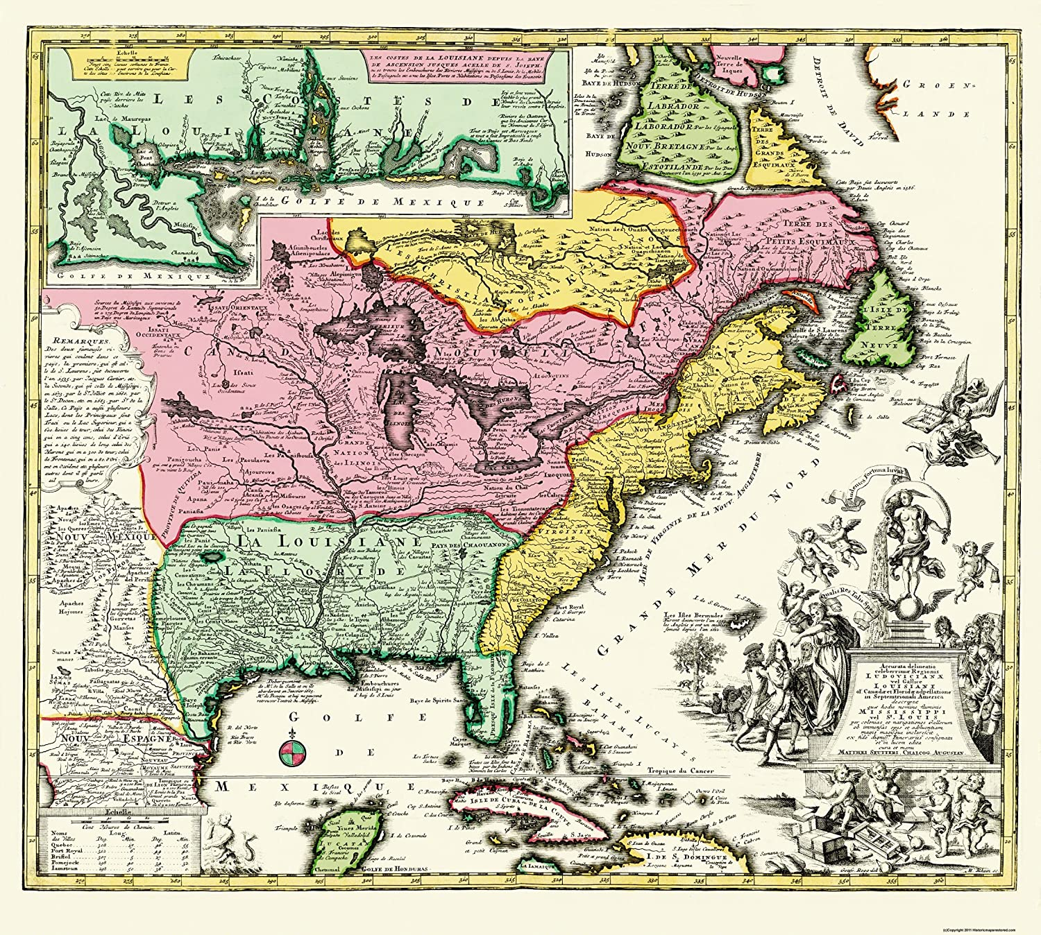 Amazon.com: Old State Map - Eastern United States - Seutter ...