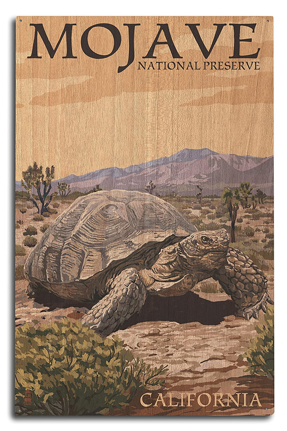 【25%OFF】 Tortoise - Mojave 15 National Sign Preserve, Wood California (12x18 Art Print, Wall Decor Travel Poster) by Lantern Press B07367LKRD 10 x 15 Wood Sign 10 x 15 Wood Sign, AJIOKA:70456912 --- kuoying.net