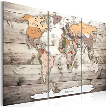 Murando image 120x80 cm 3 colours to choose image printed on 3 colours to choose image printed on canvas wall art print picture photo 3 pieces world map wood k c 0035 b g amazon kitchen home gumiabroncs Gallery