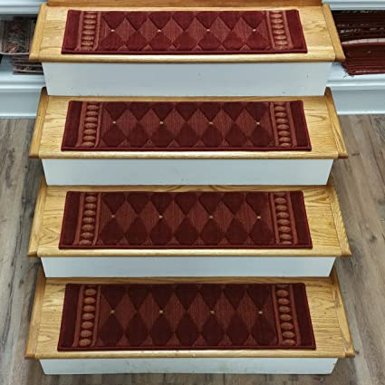 Charmant Rug Depot 159708 Contemporary Non Slip Carpet Stair Treads   Set Of 13  Treads 30u0026quot;
