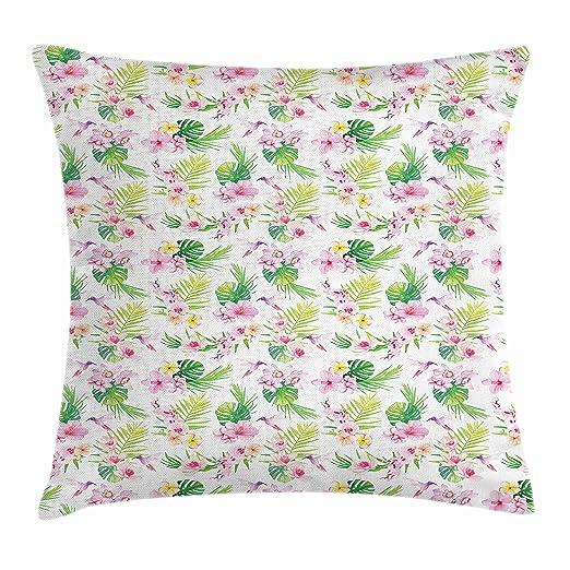 Ambesonne Luau - Funda de cojín con diseño de Flores ...
