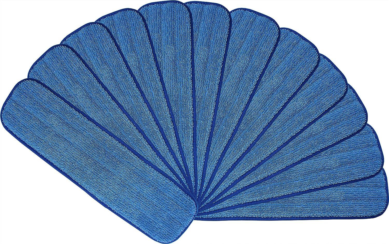 (46cm) - Microfiber Mop Pads 46cm :, Launderable, Wet/Dry - 12 Pack B01J8CRCHO