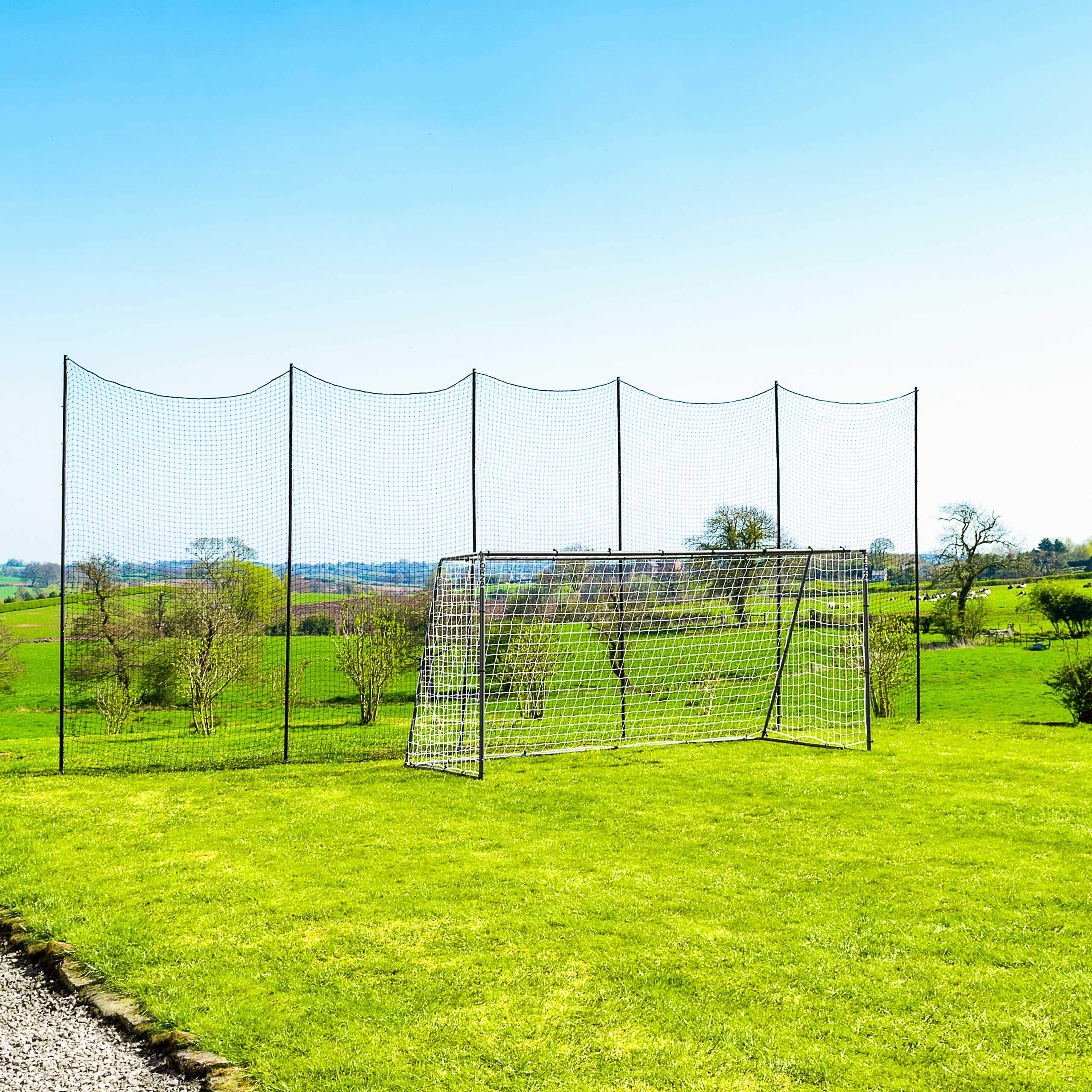 Socketed Stop That Ball - Multi-Sport Ball Stop Netting System for The Backyard, School or Sports Clubs (20ft) by Net World Sports
