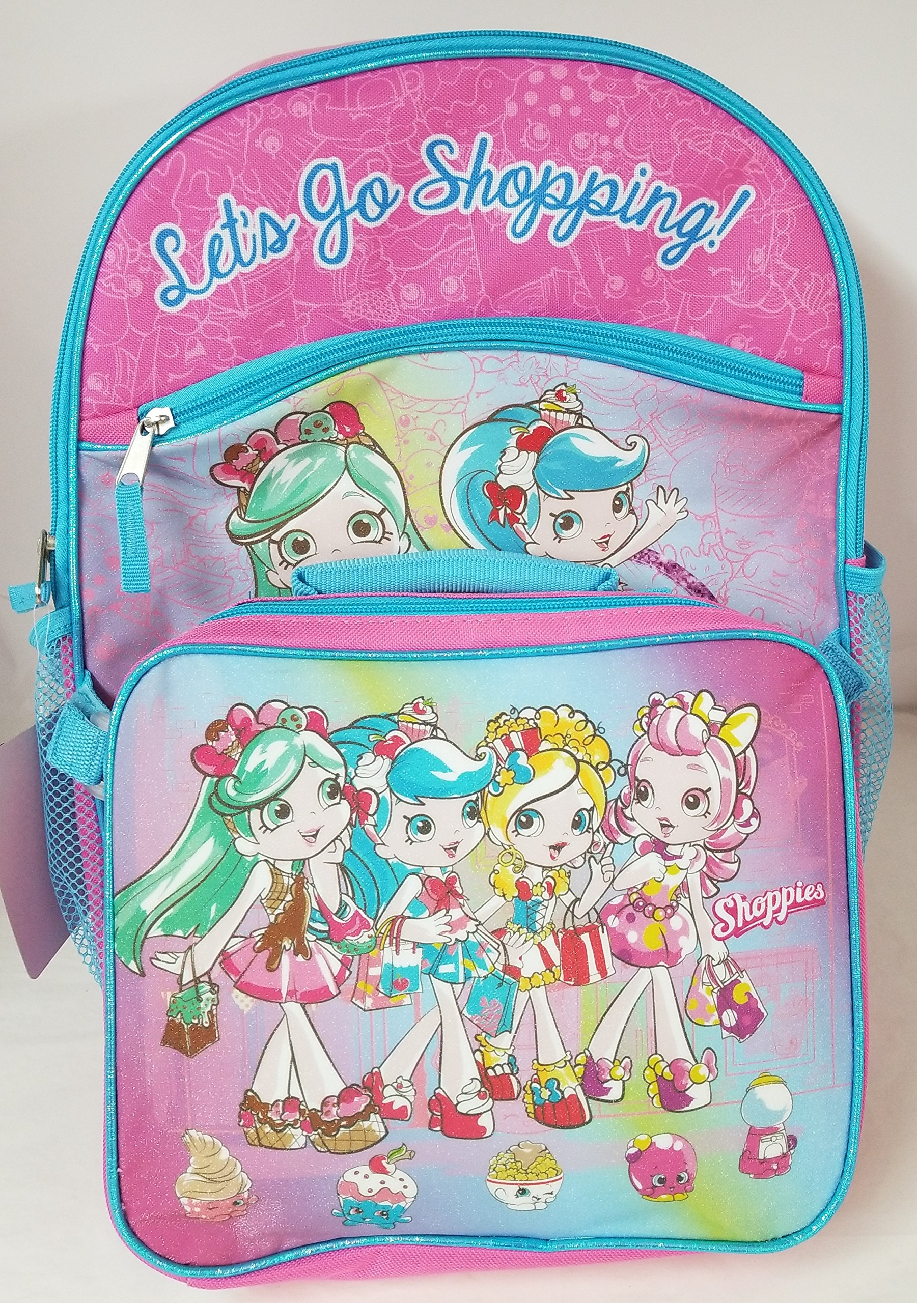 Shopkins Shoppies Backpack and Lunchbox Set ''Lets go Shopping'' by Shopkins