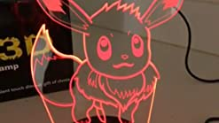 L/ámpara De Ilusi/ón 3D Pokemon Go Umbreon Figura Kid Night Lamp Led Living Room L/ámpara Decorativa Festival Gift Night Light Umbreon