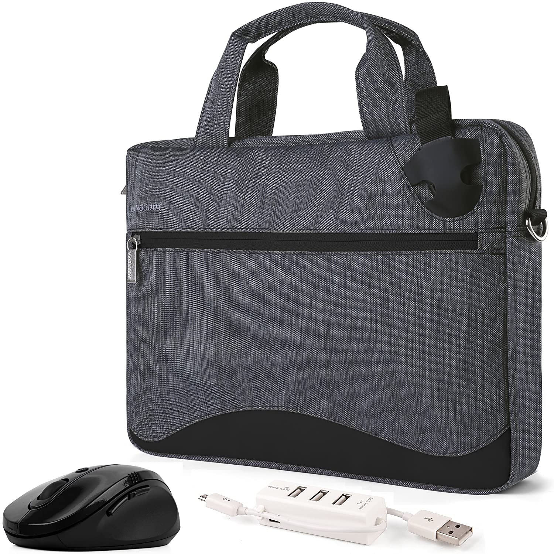 Amazon.com  VanGoddy Wave Slim Charcoal Gray Anti Theft Laptop Bag + HDMI  Cable 7646fefce