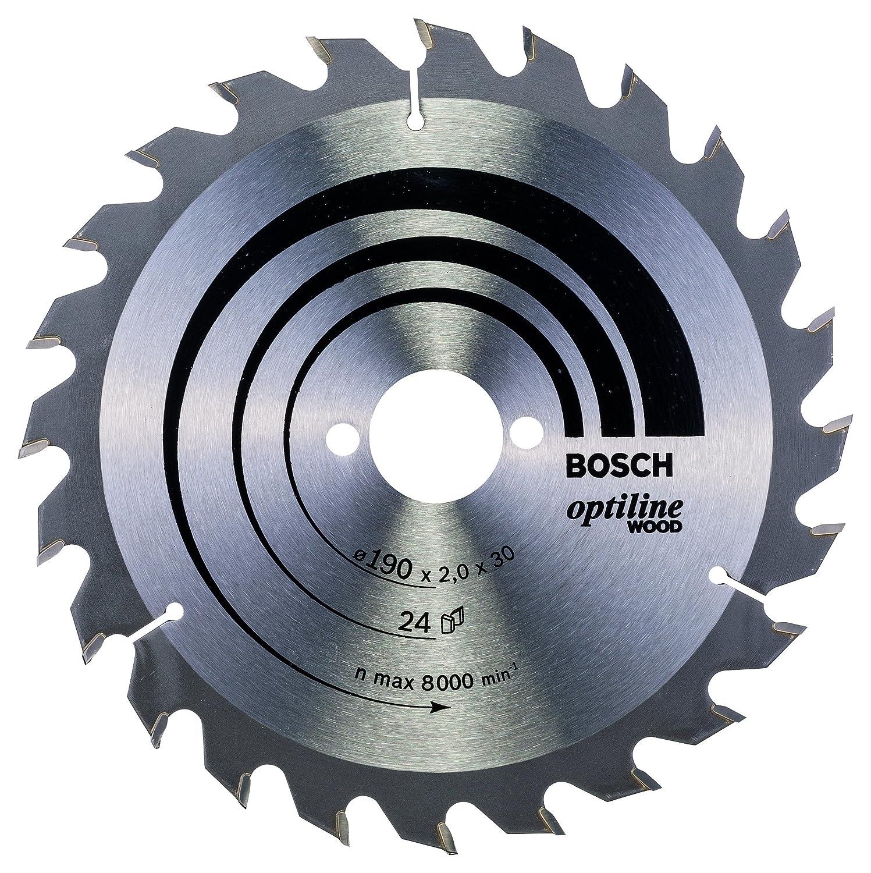 190 x 30 x 2,0 mm Hoja de sierra circular Optiline Wood 24 pack de 1 Bosch 2 608 641 185