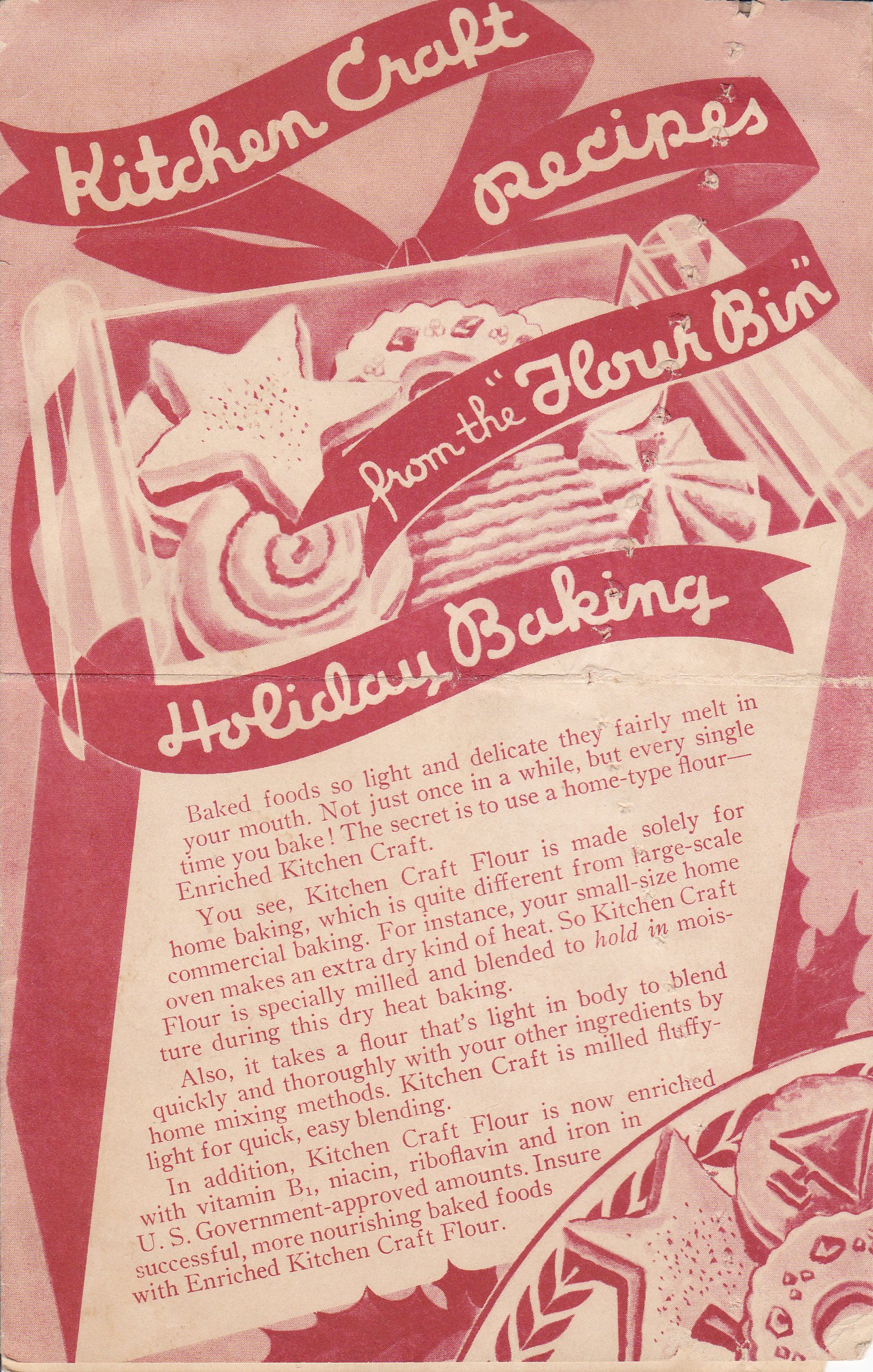 Kitchen Craft Recipes From the Flour Bin, Holiday Baking ...