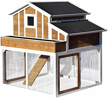 Designer Hühnerstall dobar 23033fsc großer dekorativer hühnerstall oder kleintierstall xl