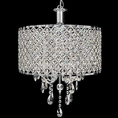 Best Choice Products 4-Pendant Dining Room Crystal Drop Modern Chandelier Light