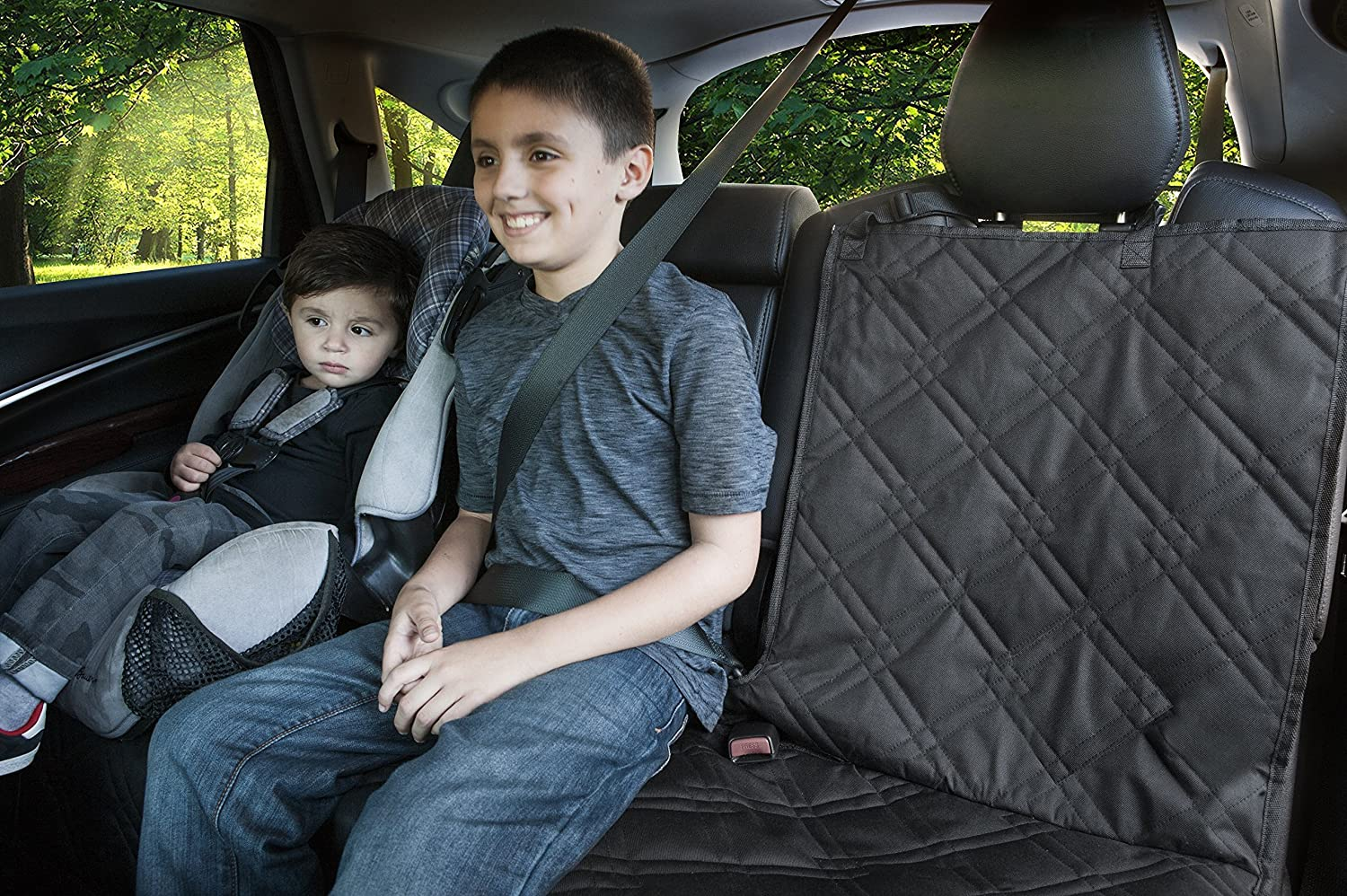 Rumbi Baby Backseat Protector for Any Car Made of Waterproof Truck and SUV Non-Slip Material with Removable Zipper