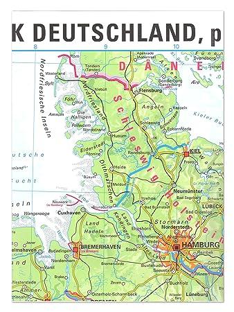 Xxl Landkarte Bundesrepublik Deutschland Physisch Gefalzt Format