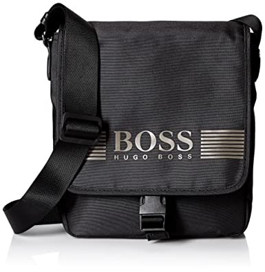 73ea40861483 Amazon.com  BOSS Green Men s Pixel Nylon Reporter Bag