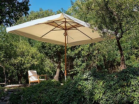 Ombrelloni Da Giardino Prezzi 3x4.My Garden Oasis Ombrellone Da Giardino 3x4 Metri Ecru