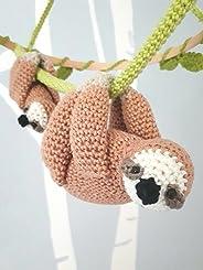 Sloth Nursery Mobile, Mother & Baby Sloth Crochet Mobile, Baby Animal Nursery Decor, Wildlife Nursery